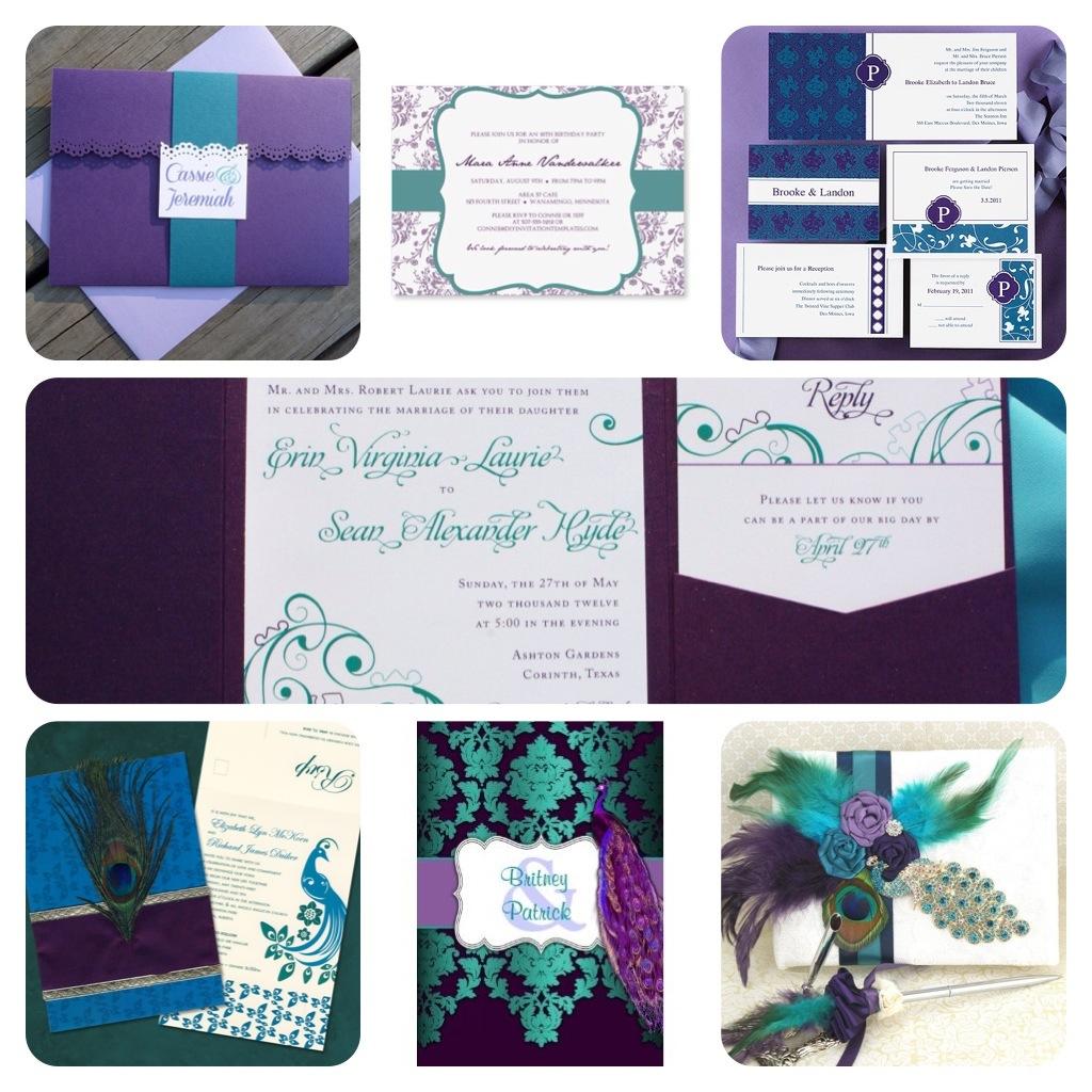 Tableau de mariage Idées de décoration avec des couleurs vives de plumes de paon
